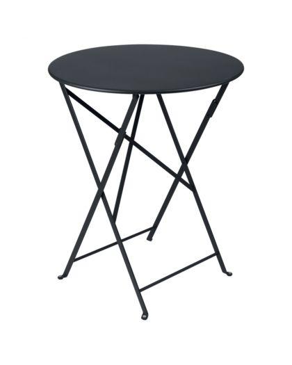 Bistro Table Pliante Ø60 Carbone