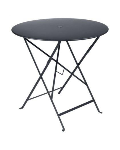 Bistro Table Pliante Ø77 Carbone