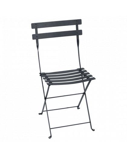 Bistro Metal Chaise Pliante Carbone