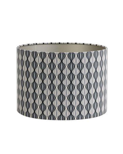 Abat-Jour Cylindre 30-30-21 Cm Trellis Noir