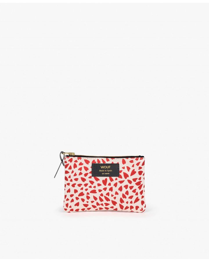 White Hearts Small Pouch