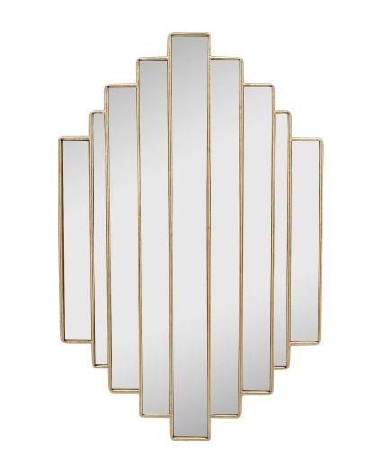 Miroir Art Deco Dore 51X80Cm 20Ac0178