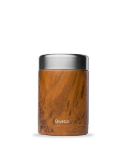 Boite Repas Soupe Isotherme, Inox Wood 650Ml