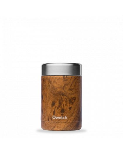 Boite Repas Soupe Isotherme, Inox Wood 340Ml Brun