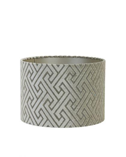 Abat-Jour Cylindre 30-30-21 Cm Maze Crème-Taupe