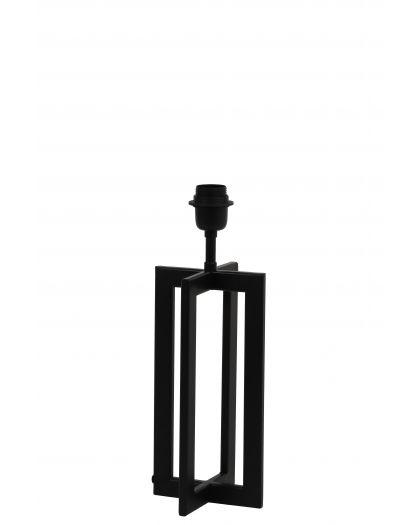 Pied De Lampe 15X15X35 Cm Mace Noir Mat