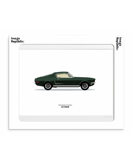 30X40 Cm Le Duo Voiture Ford Mustang Gt Fastback