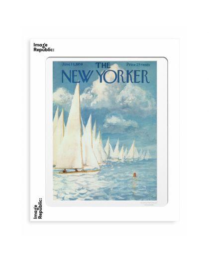 40X50 Cm The Newyorker 80 Getz Boat Race 1959