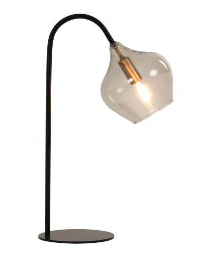 Lampe De Table E14 28X17X50,5 Cm Rakel Noir Mat+Fumée