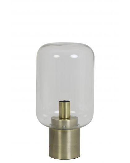 Lampe De Table Ø22X52 Cm Arturan Verre Clair+Bronze